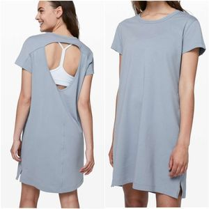 Lululemon Day Tripper Dress Gray Open Back 4 NWOT